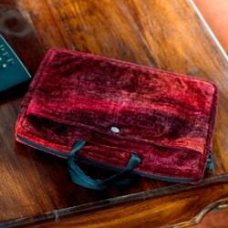 Handmade Bamboo Chenille Cotton 'Iridescent Lands' Laptop Case (Guatemala)