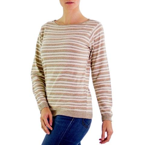 Handmade Cotton 'Horizon' Sweater (Guatemala)