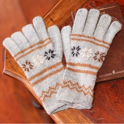 Handmade Alpaca Blend 'Misty Clouds' Gloves (Peru)