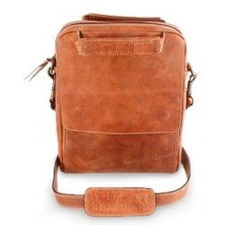 Handcrafted Leather 'Honey Cyberspace' Tablet Case (Mexico)