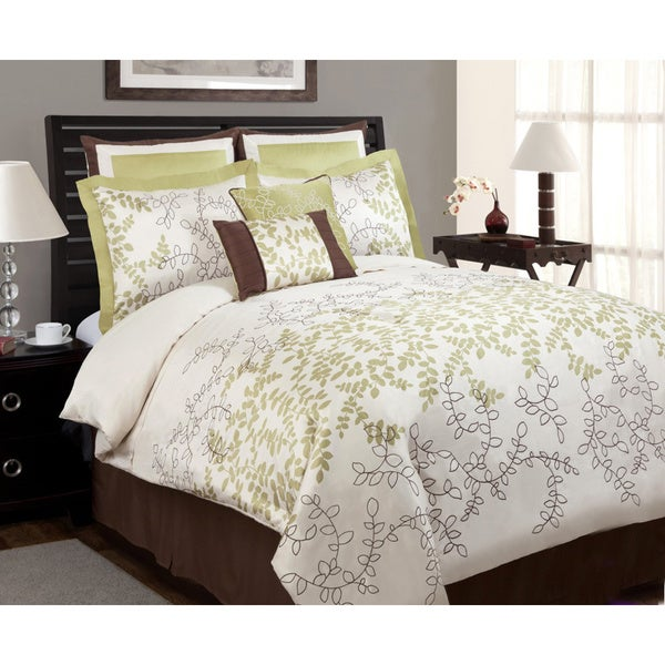 Lush Decor Hester Green 8-piece Comforter Set