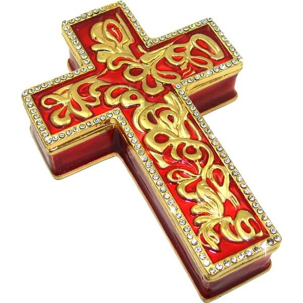 Objet d'art 'Crux Gemmata' Cross Trinket Box