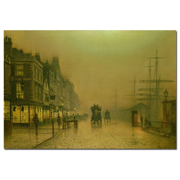 John Grimshaw 'Liverpool Docks' Canvas Art