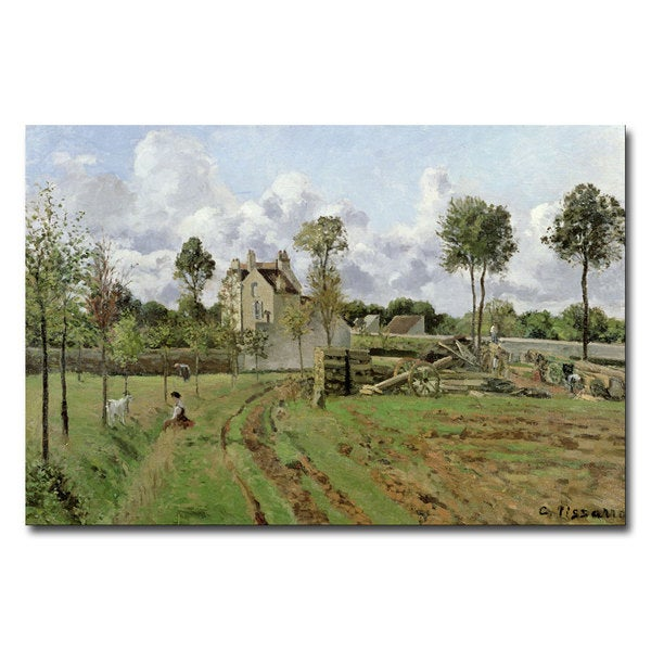Camille Pissarro 'Louveciennes, 1872' Canvas Art