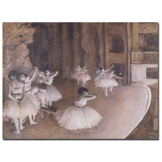 Edgar Degas 'Ballet Rehearsal, 1874' Canvas Art