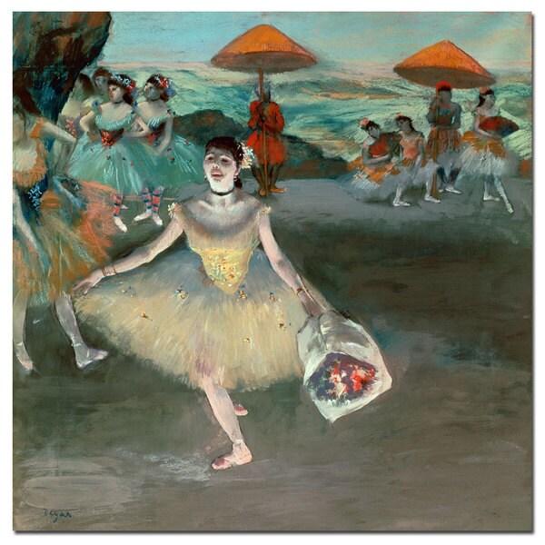 Edgar Degas 'Dancer with Bouquet, 1877' Medium Canvas Art