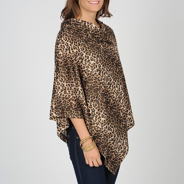 AnnaLee + Hope Women's Cheetah Stripe Poncho
