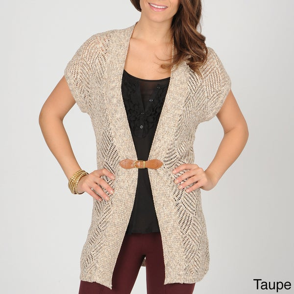 AnnaLee + Hope Women's Crochet Sweater with Buckle