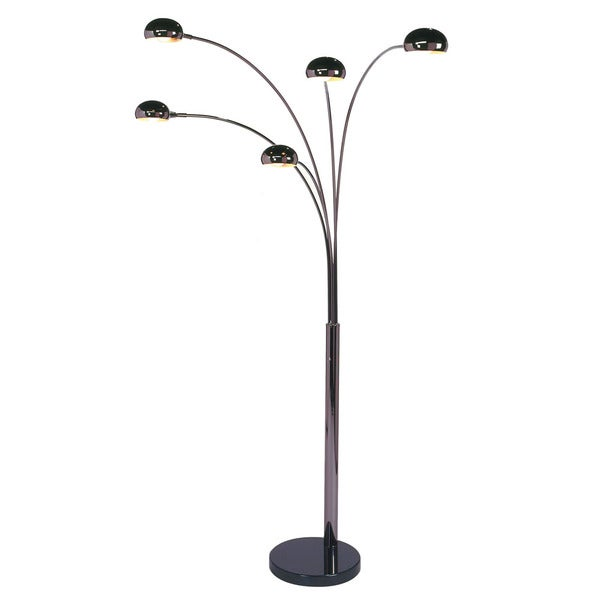 Shop Mushroom Five Light Arc Floor Lamp Free Shipping