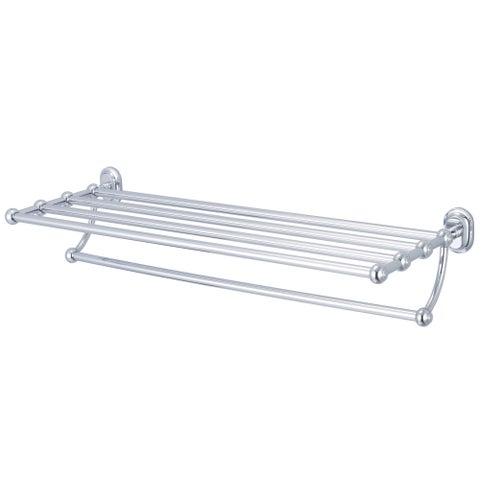 Water Creation Multi-Purpose Bath Train Rack For Classic Bathroom in Chrome Finish