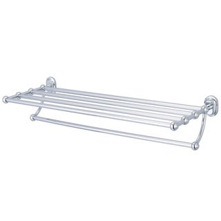 Water Creation Multi-Purpose Bath Train Rack For Classic Bathroom in Chrome Finish (As Is Item)