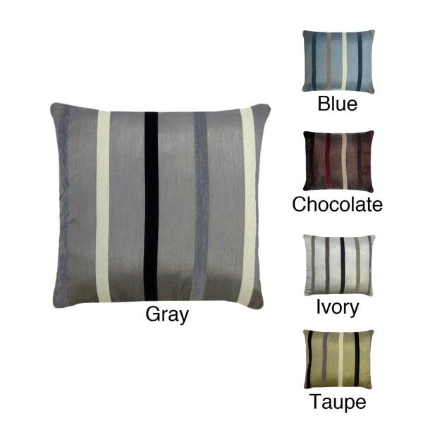 Cesar Chenille Stripe Self Cord 20 x 20 Pillow