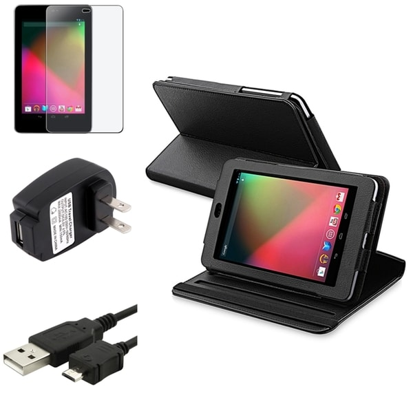 BasAcc Case/ Protector/ Charger/ USB Cable for Google Nexus 7