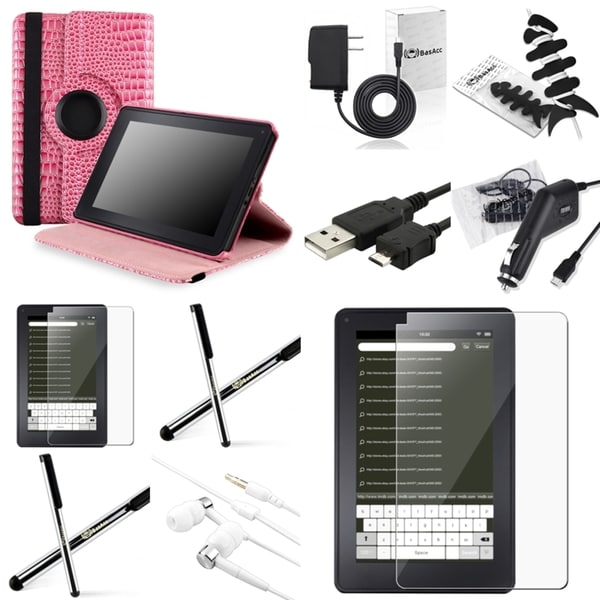 BasAcc Case/ Chargers/ Cable/ Stylus/ Headset for Amazon Kindle Fire