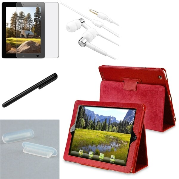 BasAcc Case/ Stylus/ Headset/ Anti-glare Protector for Apple iPad 1