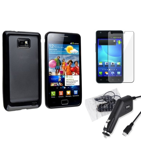 BasAcc Case/ LCD Protector/ Charger for Samsung© Galaxy S2 AT&T i777