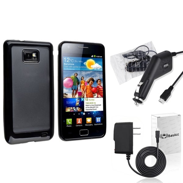 BasAcc Black Case/ Travel/ Car Charger for Samsung© Galaxy S2 i9100
