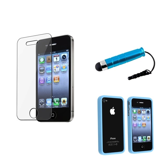 BasAcc Bumper Case/ Screen Protector/ Stylus for Apple iPhone 4/ 4S