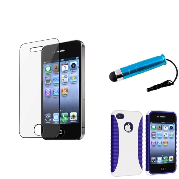 BasAcc Hybrid Case/ Screen Protector/ Stylus for Apple® iPhone 4/ 4S