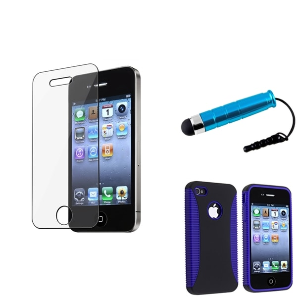 BasAcc Hybrid Case/Screen Protector/Mini Stylus for Apple iPhone 4 AT&T