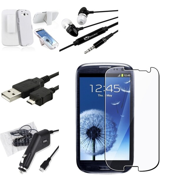BasAcc Holster/ Protector/ Charger/ Cable for Samsung Galaxy S III/ S3