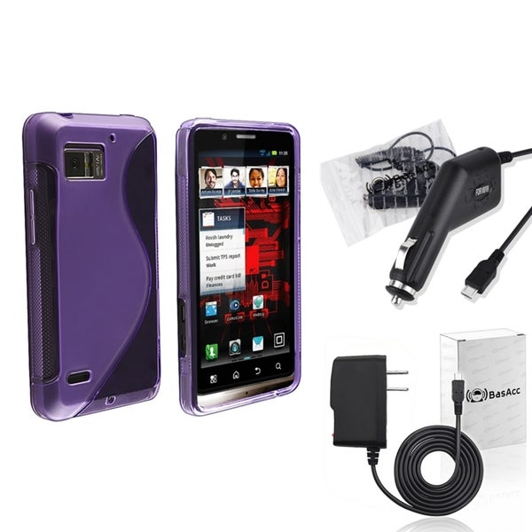 BasAcc Case/ Travel/ Car Charger for Motorola Droid Bionic XT875