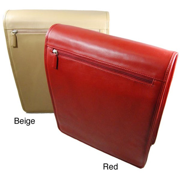 Romano Leather North South Messenger Bag