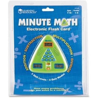 Learning Resources Minute Math Electronic Flash Card|https://ak1.ostkcdn.com/images/products/7386420/P14845129.jpg?impolicy=medium