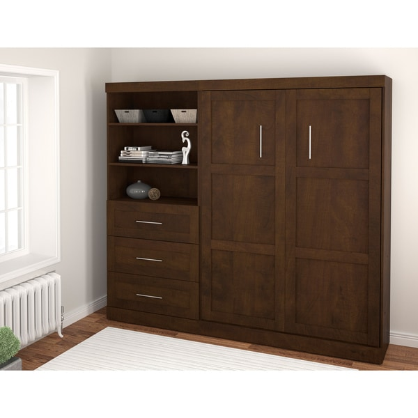 Pur by Bestar Wall Bed with Storage Unit