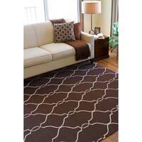 Hand woven Monterey Brown Flatweave Wool Area Rug (2' x 3')