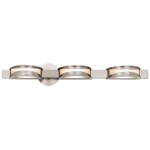 Access Metis 3-light Brushed Steel Vanity Fixture