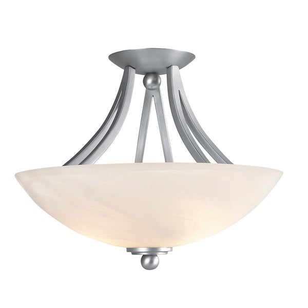 Access Rhine 2-light Satin Semi-flush Fixture