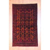 Herat Oriental Afghan Hand-knotted Tribal Balouchi Wool Rug (3'6 x 6') - 3'6 x 6'