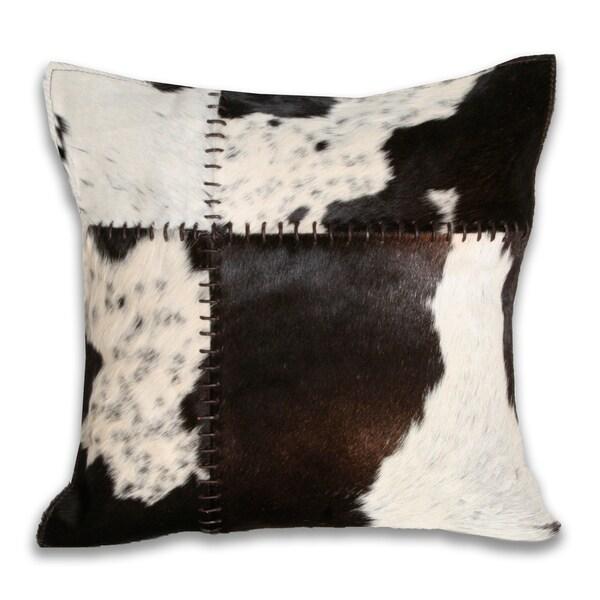 Marlo Lorenz Cow Hide 16-inch Decorative Pillow