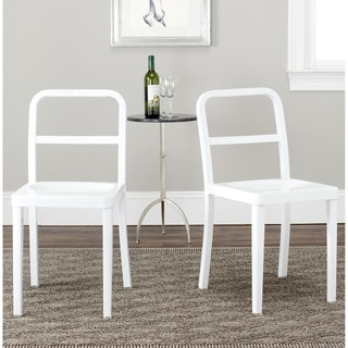 Safavieh Metropolitan Dining Kastra White Dining Chairs (Set of 2)
