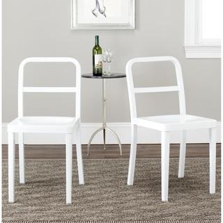 Safavieh Metropolitan Dining Kastra White Dining Chairs (Set of 2)