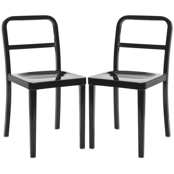 Safavieh Metropolitan Dining Kastra Black Side Chairs (Set of 2)