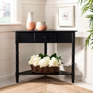 Safavieh Gomez Black Corner Table