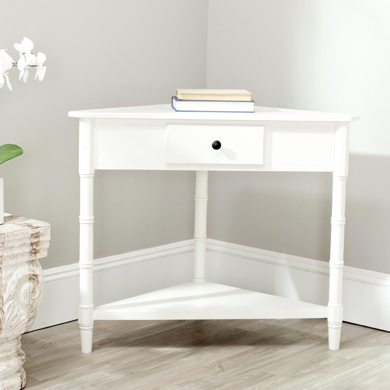 Safavieh Gomez Cream Corner Table (AMH5709C), Beige Off-W...