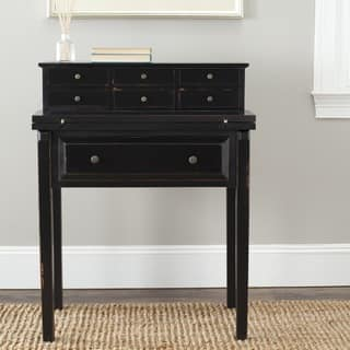 Safavieh Abigail Black Storage Fold Down Desk