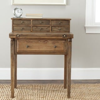 Safavieh Abigail Oak Storage Finish Fold Down Desk