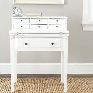 Safavieh Abigail White Storage Fold Down Desk