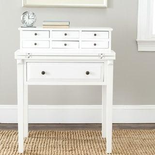 Safavieh Abigail White Storage Fold Down Desk