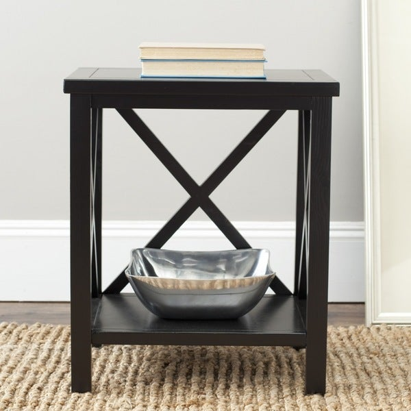 Safavieh Cadence Black Cross Back Table