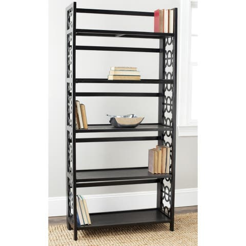 "Safavieh Natalie Black Tall Bookcase - 33.5"" x 13"" x 73"""