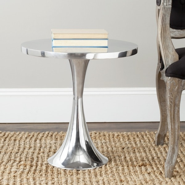 Shop Safavieh Galium Silver Side Table Free Shipping