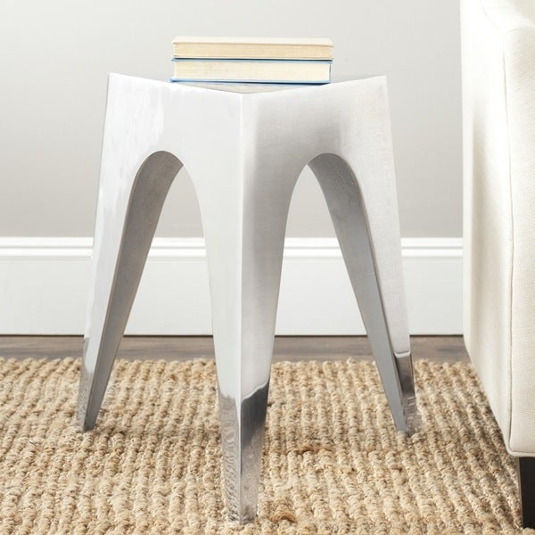 Safavieh Indium Triangle Silver Side Table