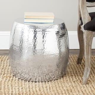 "Safavieh Vanadium Silver Round Table - 15.4"" x 15.4"" x 15.8"""