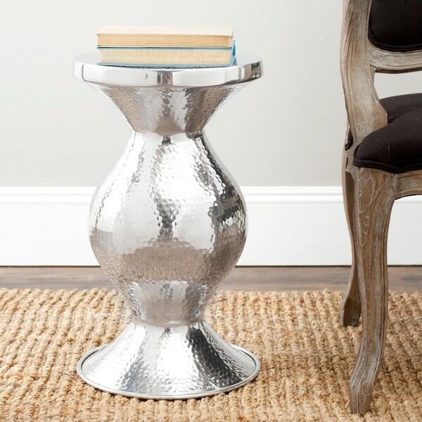 "Safavieh Radium Silver Small Table - 12.6"" x 12.6"" x 20.8"". Opens flyout."