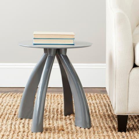 "SAFAVIEH Iridium Modern Grey Iron Accent Table - 16"" x 16"" x 17.3"""